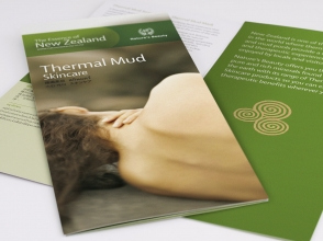 Nature's Beauty Thermal Mud skincare brochure