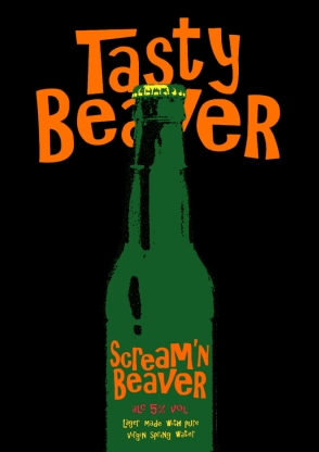 Scream'n Beaver 'Tasty Beer' poster