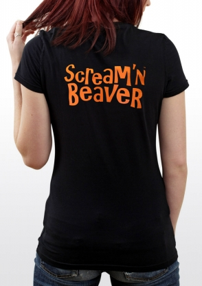 Scream'n Beaver promotional t-shirt