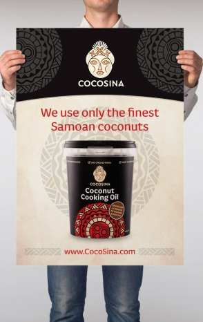 CocoSina coconut cooking oil poster