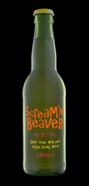 Scream'n Beaver beer packaging