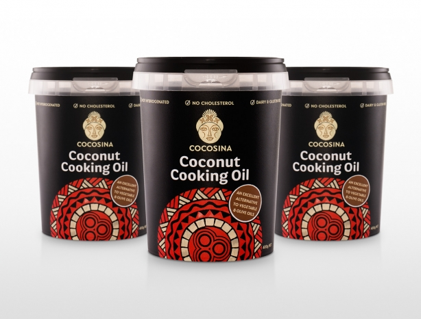 CocoSina coconut cooking oil packaging